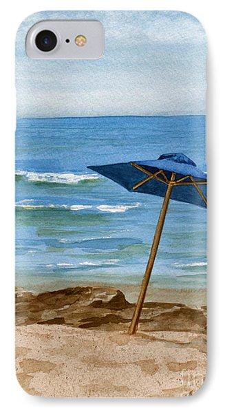 Blue Umbrella Phone Case by Nancy Patterson