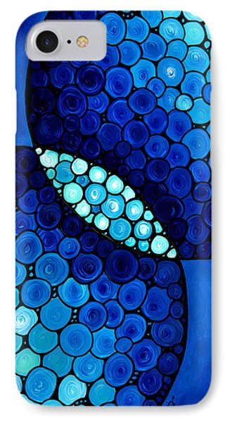 Blue Unity Phone Case by Sharon Cummings