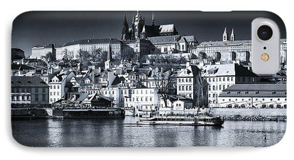 Blue Vltava View Phone Case by John Rizzuto