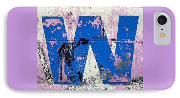 Blue W IPhone Case by Ethna Gillespie