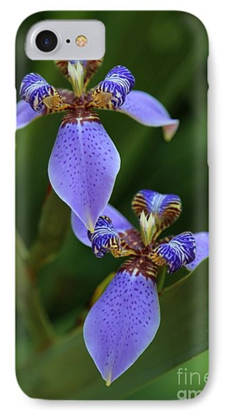 Blue Walking Iris Phone Case by Carol Groenen