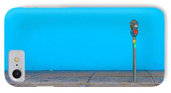 Blue Wall Parking Phone Case by Darryl Dalton