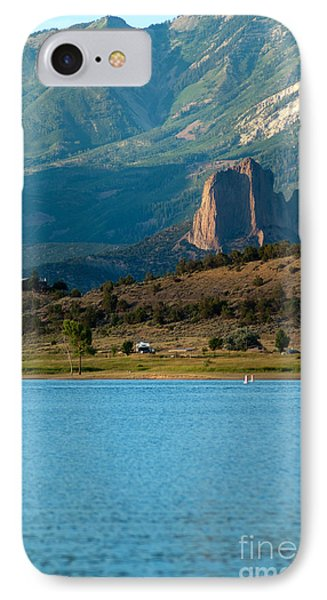 IPhone Case featuring the photograph Blue Water And Needlrock by Eric Rundle