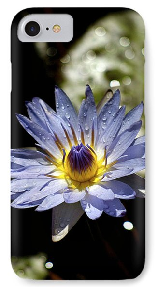 IPhone Case featuring the photograph Waterlily After The Rain ... by Lehua Pekelo-Stearns