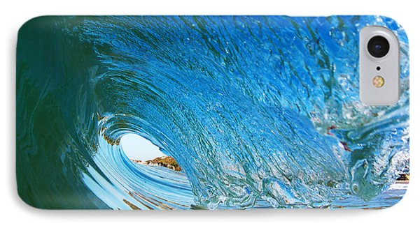 Blue Wave Curl IPhone Case