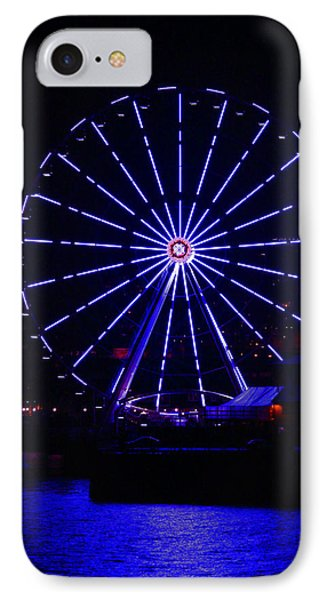 Blue Wheel Of Fortune Phone Case by Kym Backland