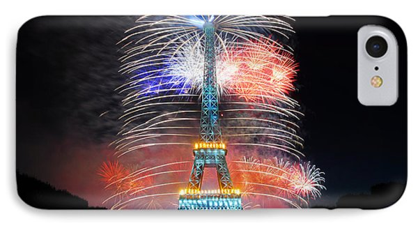 Blue White Red Fireworks IPhone Case
