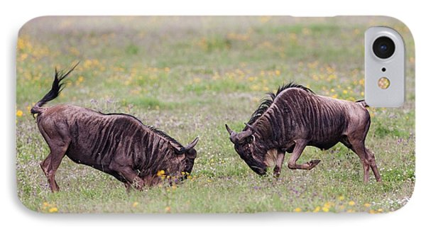 Blue Wildebeest Connochaetes Taurinus IPhone Case by Photostock-israel