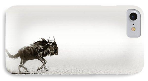 Blue Wildebeest In Desert IPhone Case by Johan Swanepoel