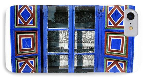 Blue Window Handmade Phone Case by Daliana Pacuraru