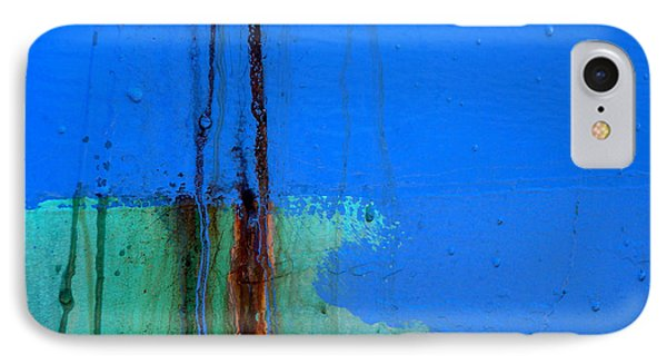 Blue With Streaks 2 IPhone Case by Robert Riordan