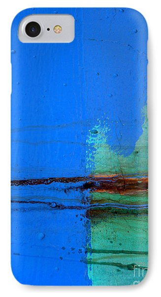 Blue With Streaks IPhone Case by Robert Riordan