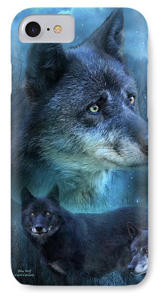 Blue Wolf IPhone Case