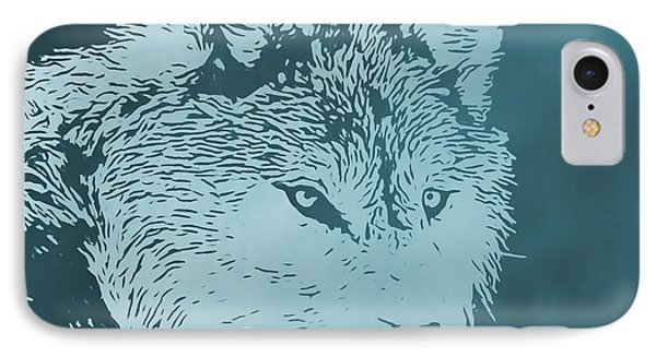 Blue Wolf IPhone Case by Dan Sproul