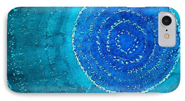 Blue World Original Painting IPhone Case by Sol Luckman