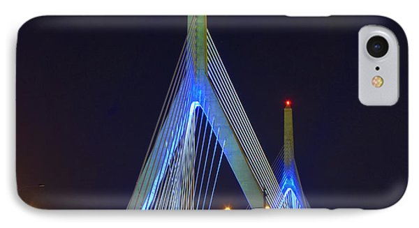 Blue Zakim IPhone Case by Joann Vitali