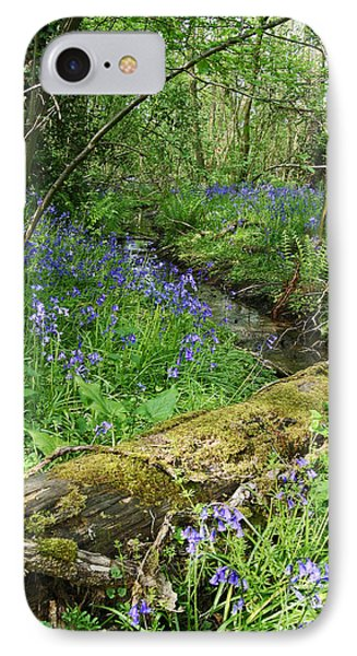 Bluebell Wood IPhone Case by John Topman