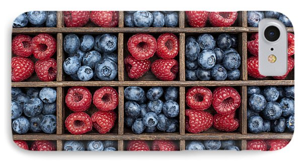 Blueberries And Raspberries  IPhone 7 Case by Tim Gainey