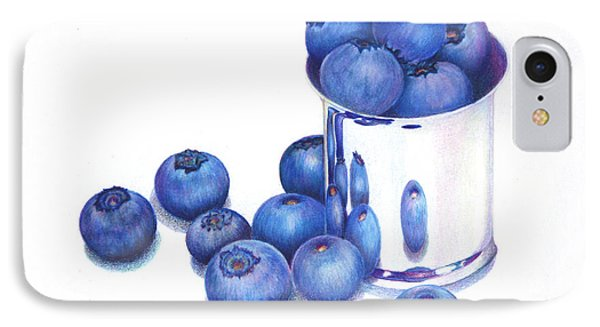 Blueberries And Silver IPhone Case