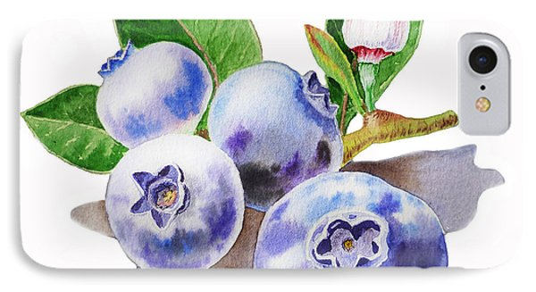 Artz Vitamins The Blueberries IPhone Case by Irina Sztukowski