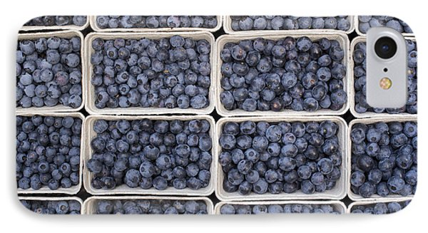 Blueberries IPhone 7 Case by Tim Gainey