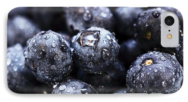 Blueberry Close Up Phone Case by John Rizzuto