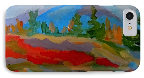 IPhone Case featuring the painting Blueberry Mountain by Francine Frank