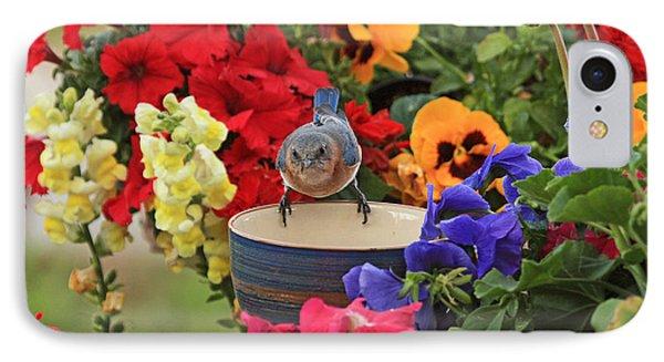 Bluebird Garden IPhone Case by Luana K Perez