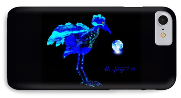IPhone Case featuring the painting Bluebird Watching by Hartmut Jager