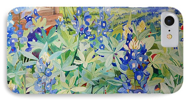 Bluebonnet Beauties IPhone Case by Terry Holliday