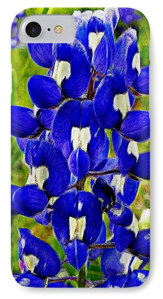 IPhone Case featuring the photograph Bluebonnet by Kathy Churchman