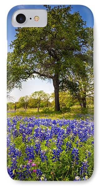 Bluebonnet Meadow Phone Case by Inge Johnsson