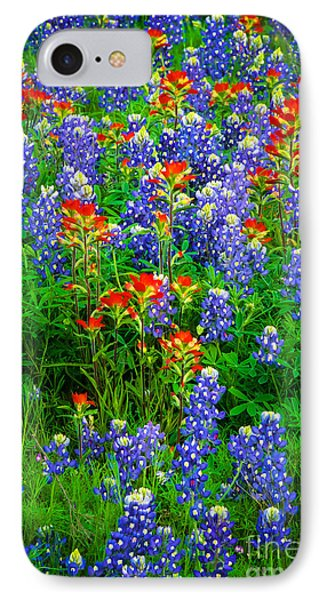 Bluebonnet Patch IPhone Case by Inge Johnsson