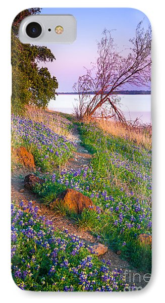 Bluebonnet Trail IPhone Case by Inge Johnsson