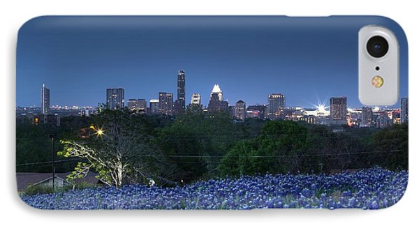 Bluebonnet Twilight IPhone Case by Dave Files