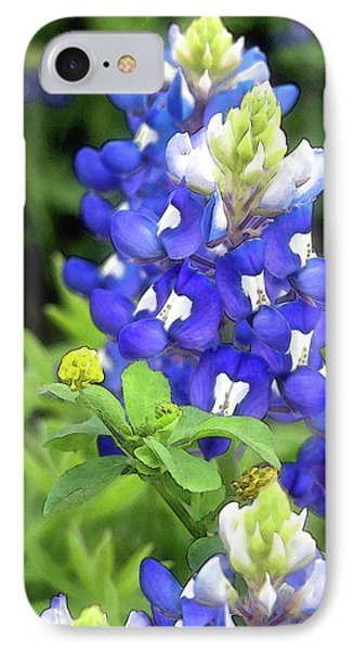 Bluebonnets Blooming IPhone Case by Stephen Anderson