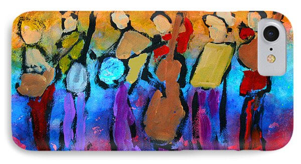 IPhone Case featuring the painting Bluegrass Band by Mordecai Colodner