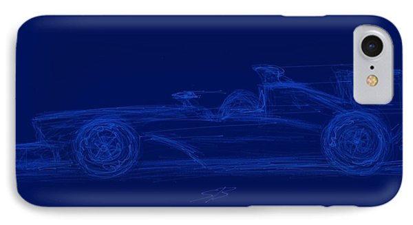 Blueprint For Speed IPhone Case by Stacy C Bottoms