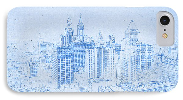 Blueprint Of Lower Manhattan New York 1912 IPhone Case
