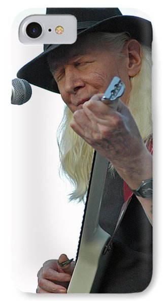 Bluesman Johnny Winter Phone Case by Mike Martin