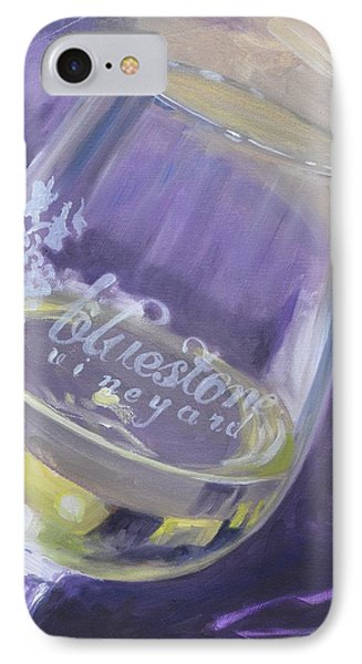 Bluestone Vineyard Wineglass IPhone Case by Donna Tuten