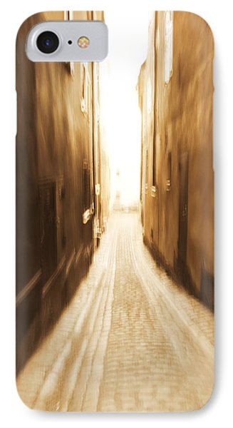 Blurred Alley - Monochrome IPhone Case