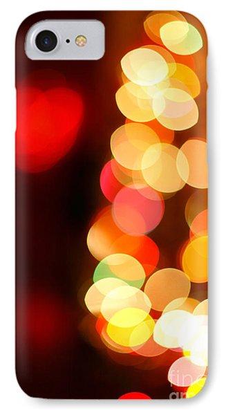 Blurred Christmas Lights Phone Case by Gaspar Avila