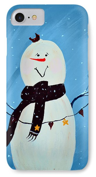 Blushing Snowman Phone Case by Chastity Hoff