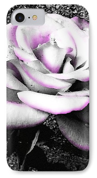 IPhone Case featuring the photograph Blushing White Rose by Shawna Rowe