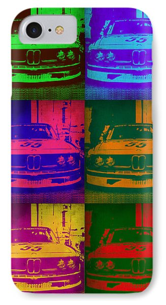 Bmw 2002 Front Pop Art 1 IPhone Case by Naxart Studio