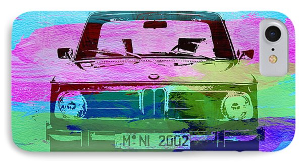 Bmw 2002 Front Watercolor 1 Phone Case by Naxart Studio