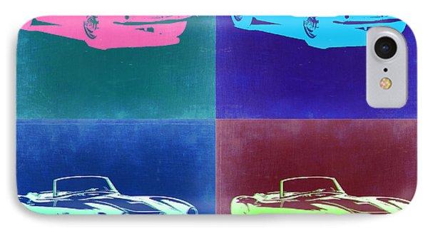 Bmw 507 Pop Art 2 IPhone Case by Naxart Studio