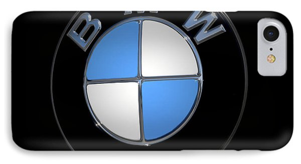 Bmw Emblem IPhone Case by DigiArt Diaries by Vicky B Fuller