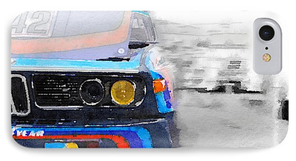 Bmw Lamp And Grill Watercolor IPhone Case by Naxart Studio